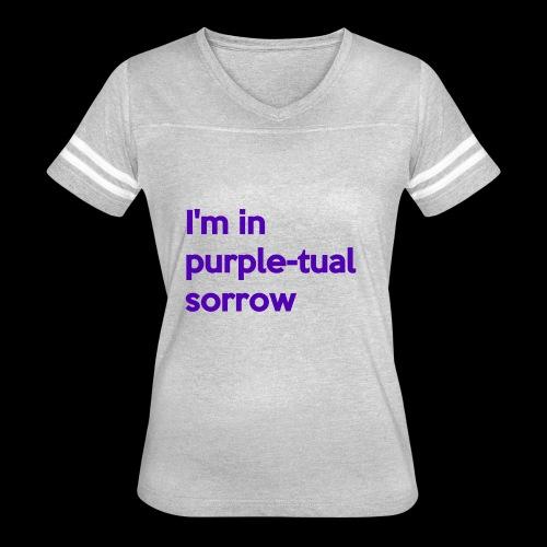 Purple-tual sorrow - Women's Vintage Sport T-Shirt