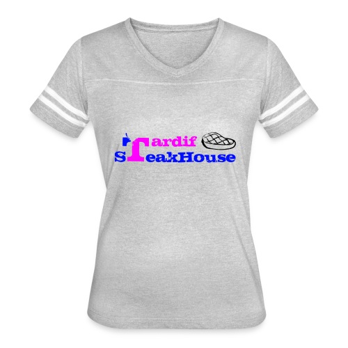 Tardif SteakHouse Blue Pink - Women's Vintage Sports T-Shirt