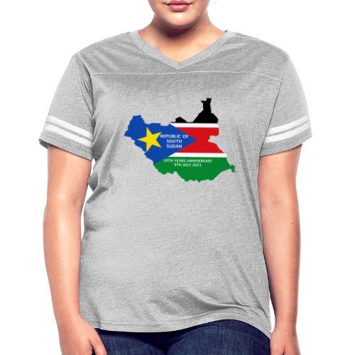 south sudan 10th years anniversary - Women's Vintage Sports T-Shirt
