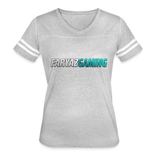 FaryazGaming Theme Text - Women's Vintage Sport T-Shirt