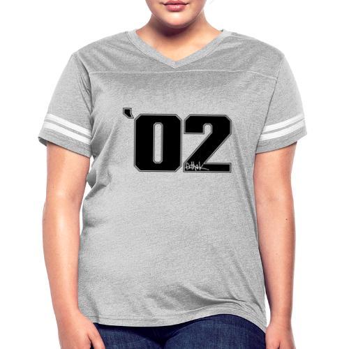 2002 (Black) - Women's Vintage Sports T-Shirt