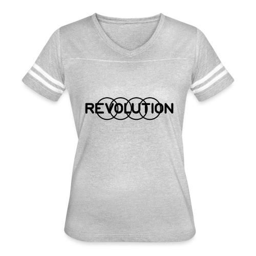 Revolution Black Logo - Women's Vintage Sport T-Shirt
