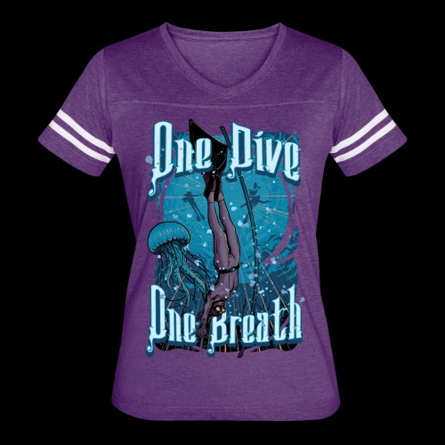 One Dive One Breath Freediving - Women's Vintage Sport T-Shirt