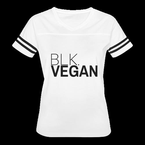 Blk. Vegan - Women's Vintage Sport T-Shirt