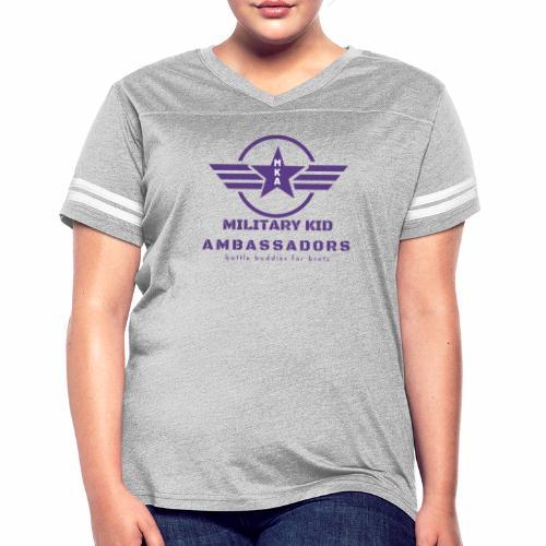 Military Kid Ambassador Purple Logo - Women's Vintage Sport T-Shirt