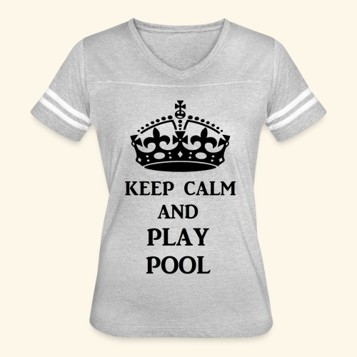 keep calm play pool blk - Women's Vintage Sport T-Shirt
