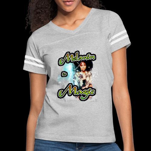 melanin is magic - Women's Vintage Sport T-Shirt