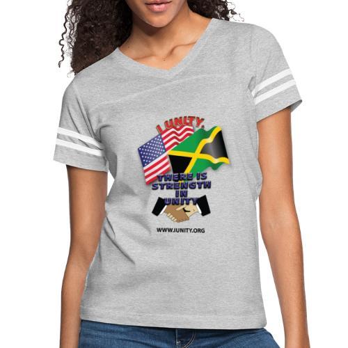Jamaican flagE01 - Women's Vintage Sport T-Shirt