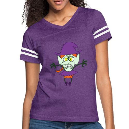 Scary Halloween Witch - Women's Vintage Sport T-Shirt