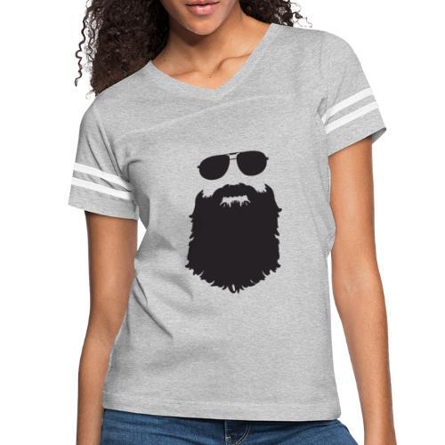 Beardy Silhouette - Women's Vintage Sport T-Shirt