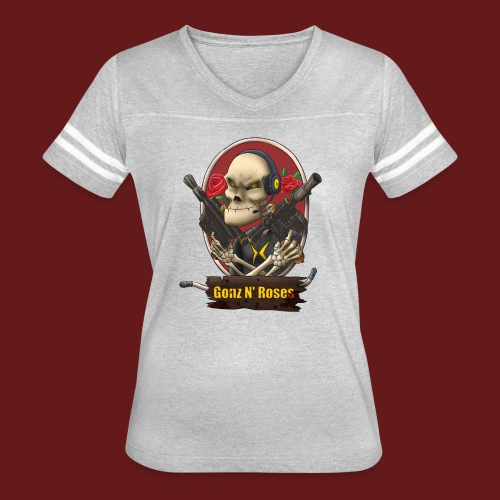 Gonz and Roses t shirt - Women's Vintage Sport T-Shirt