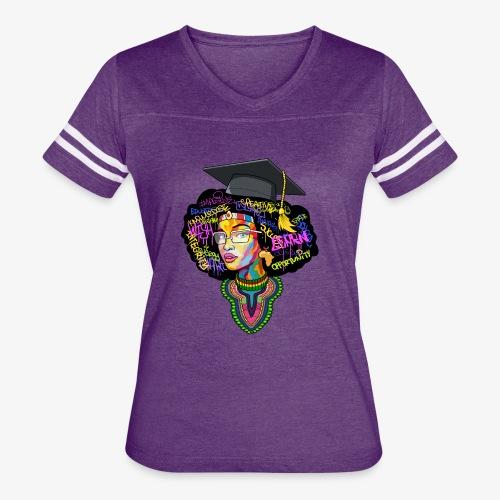 Smart Black Woman - Women's Vintage Sport T-Shirt