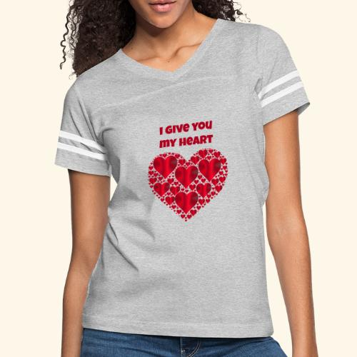 I Give You My Heart valentine - Women's Vintage Sport T-Shirt