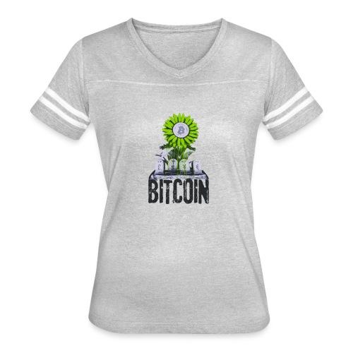 Bitcoin Banksy Street Art Tshirt - Women's Vintage Sport T-Shirt