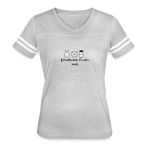 SMILE BACK - Women's Vintage Sport T-Shirt