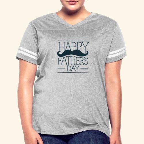 Fathers Day Mustache Design - Women's Vintage Sport T-Shirt