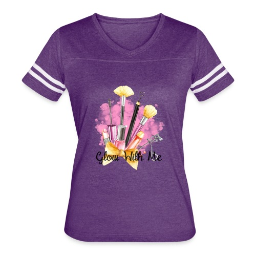 Glow With Me Makeup Logo - Women's Vintage Sport T-Shirt