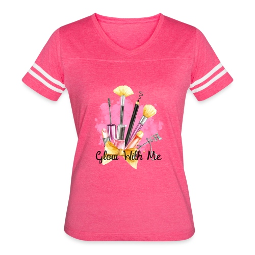 Glow With Me Makeup Logo - Women's Vintage Sport T-Shirt