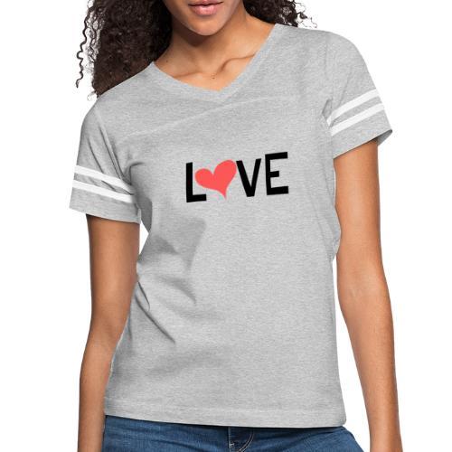 LOVE heart - Women's Vintage Sport T-Shirt
