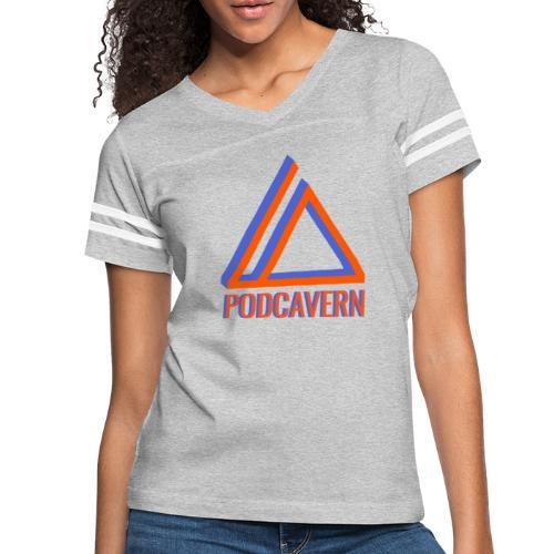 PodCavern Logo - Women's Vintage Sport T-Shirt