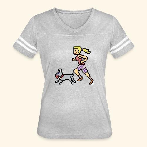 RunWithPixel - Women's Vintage Sport T-Shirt
