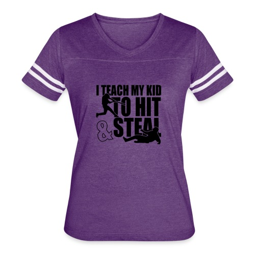 I Teach My Kid to Hit and Steal Baseball - Women's Vintage Sport T-Shirt