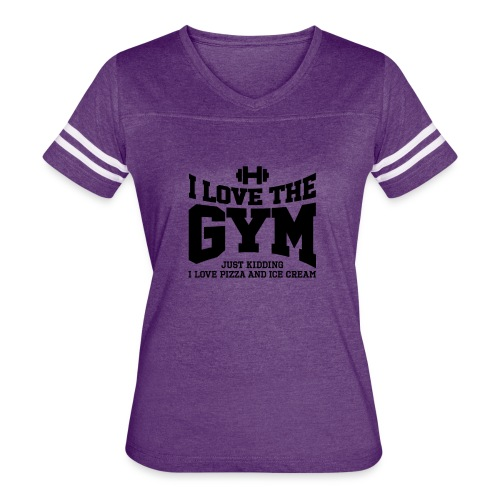 I love the gym - Women's Vintage Sport T-Shirt