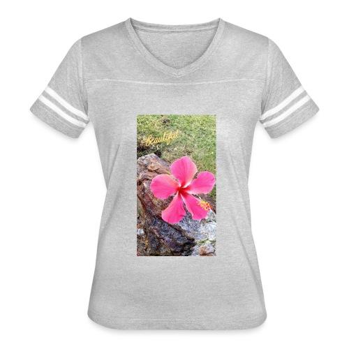 Pink Beach Flower - Women's Vintage Sport T-Shirt