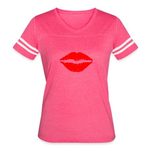 Red Lips Kisses - Women's Vintage Sport T-Shirt