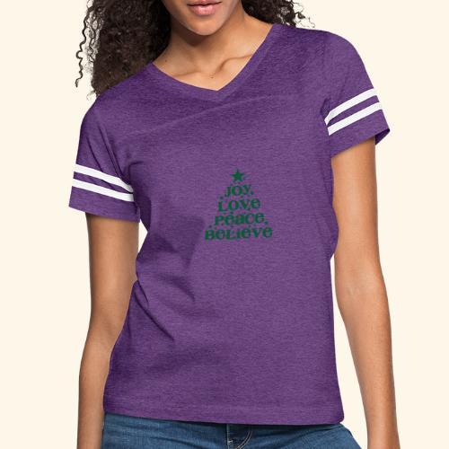 Christmas Tree Joy Peace Believe - Women's Vintage Sport T-Shirt