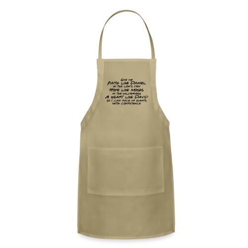 Face Your Giants with Confidence - Adjustable Apron