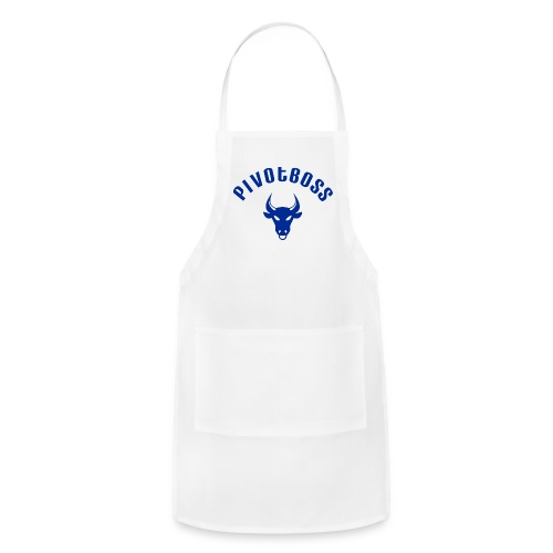 PivotBoss Curved Logo - Cobalt - Adjustable Apron