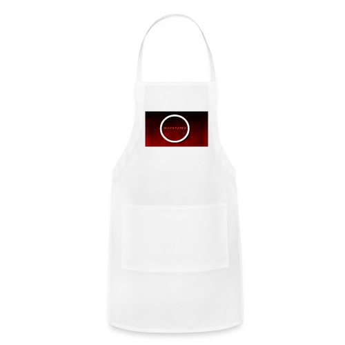Red Emblem with Name - Adjustable Apron
