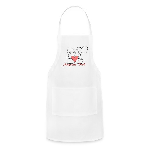 Use this Kissing couple Magnetic Bond white hea - Adjustable Apron