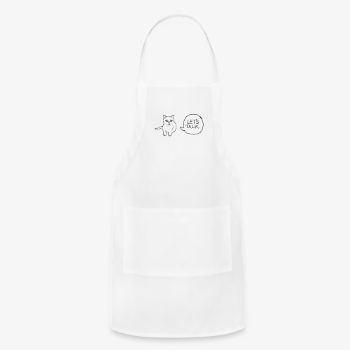 talk whit the cat - Adjustable Apron