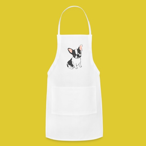 Black and White Frenchie - Adjustable Apron