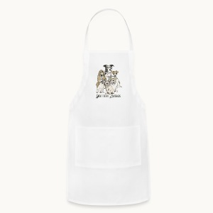 DOGS-SENTIENT BEINGS-white text-Carolyn Sandstrom - Adjustable Apron