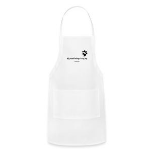 RescueDogs101 My heart belongs to my dog - Adjustable Apron