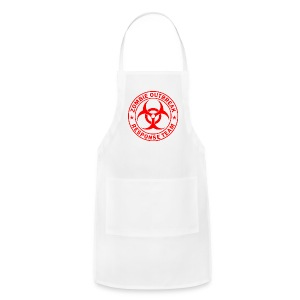 Zombie outbreak response unit red large - Adjustable Apron