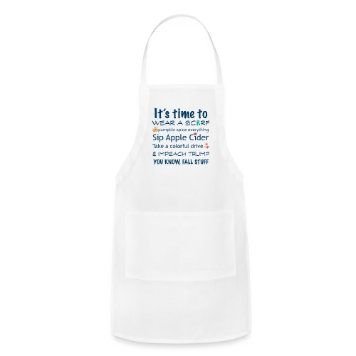 FALL Humor in Blue - Adjustable Apron