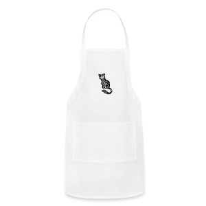 elegant-cat-with-bird-tattoo-design-5 - Adjustable Apron
