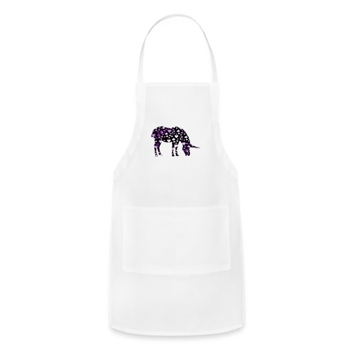 Unicorn Hearts purple - Adjustable Apron