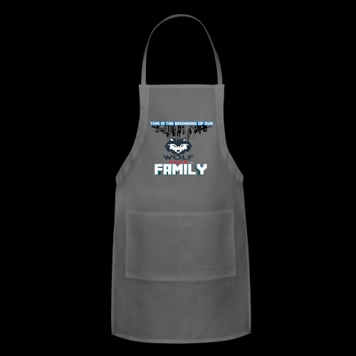 We Are Linked As One Big WolfPack Family - Adjustable Apron