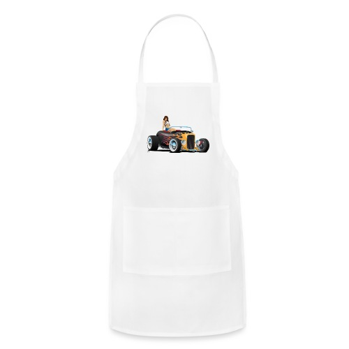 Custom Hot Rod Roadster Car with Flames and Sexy W - Adjustable Apron