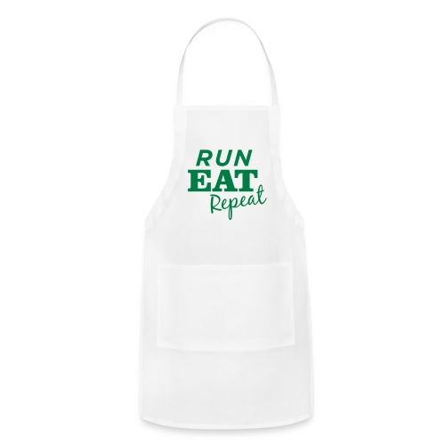 Run Eat Repeat buttons medium - Adjustable Apron