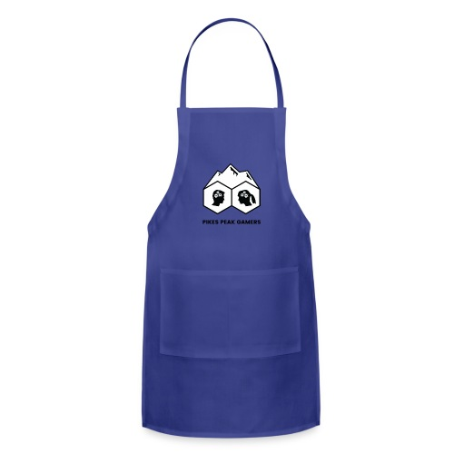 Pikes Peak Gamers Logo (Solid White) - Adjustable Apron