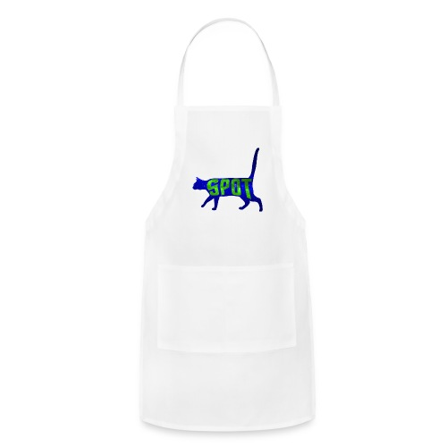 Data's Cat Spot (Blue and Green) - Adjustable Apron