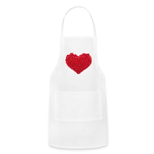 Valentine flower hear - Adjustable Apron