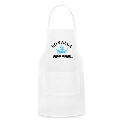 Royalla Apparel LogoBlack with Blue Words - Adjustable Apron