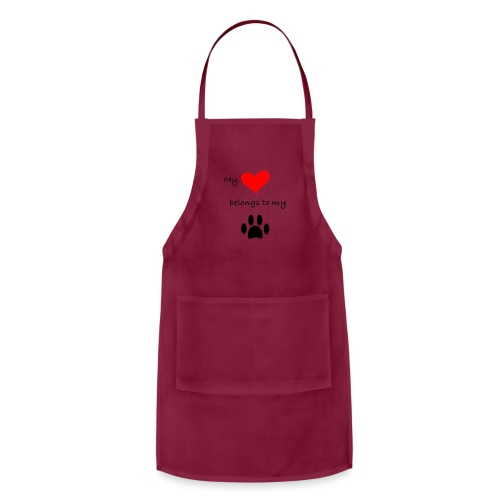Dog Lovers shirt - My Heart Belongs to my Dog - Adjustable Apron